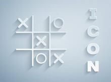 Paper Cut Tic Tac Toe Game Ico...