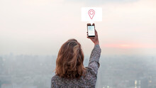 Woman Sharing Her City View Photo To Her Social Media