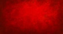 Sfondo Rosso Natalizio Con Motivo Sgangherato Dipinto, Web Banner Panoramico Astratto Con Centro Luminoso Bianco Sfocato