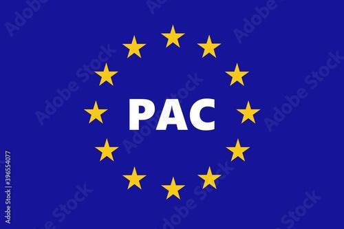 Fototapeta PAC : Politique Agricole Commune européenne obraz