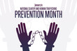 January is National Slavery and Human Trafficking Prevention Month. Holiday concept. Template for background, banner, card, poster with text inscription. Vector EPS10 illustration.