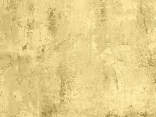 Pastel Colored Yellow Low Contrast Concrete Textured Background With Roughness And Irregularities. 2021-2022 Color Trend.