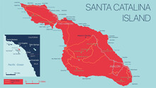 Vector Detailed Map Of Santa C...
