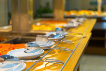 Served Crockery Ready For Use ...