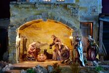 Weihnachtskrippe Orientalisch, Geburt Jesu, Heilige Nacht, Weihnachten, Heilige Drei Könige, Krippenstall, Krippenszene