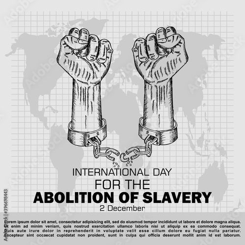 Canvas Print International Day For The Abolition Of Slavery, Poster and Banner