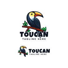 Toucan Bird Logo Design Vector
