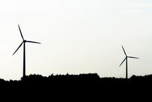 View Of A Modern Windmill Agai...