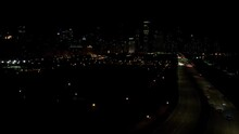 Night Time In Chicago Downtown...