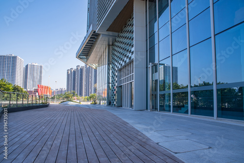Fototapety, obrazy: CBD building and empty ground in Nansha, Guangzhou, China