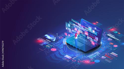Fotografía Web coding on laptop
