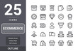 Ecommerce icon pack for your web site design, logo, app, UI. Ecommerce icon outline design. Vector graphics illustration and editable stroke. EPS 10.