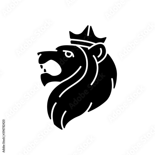Fototapeta Judah Lion black glyph icon