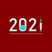 Illustration De La Nouvelle Année 2021, Coronavirus