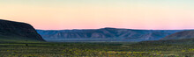Panoramic View Of The Tankwa Karoo At Dusk