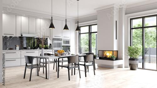 Fototapeta modern kitchen interior obraz