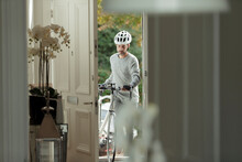 Man With Bicycle Returning Hom...