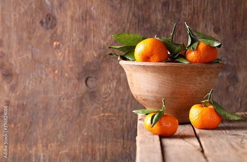 Fototapeta fresh ripe fruit tangerines for healthy eating obraz