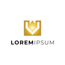 Letter V King Logo Design