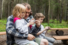 Family Learning To Tie Knots In The Forest
