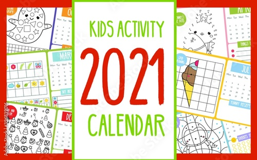 Fotografiet Kids activity calendar