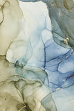 Alcohol ink art.Mixing liquid paints. Modern, abstract colorful background, wallpaper. Marble texture.Translucent colors - 396876002