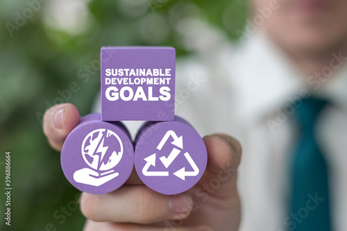 Fototapeta Sustainable Development Global Goals Concept. Corporate social responsibility - the United Nations. SDG. obraz