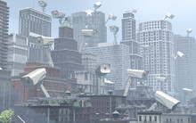 City Buildings Covered In Surveillance Cameras