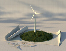 Scale Model Of Wind Turbine On...