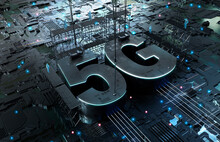 5G Characters On Circuit Board