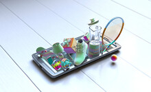 Colorful Objects On Top Of Smart Phone