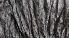 Black Lace On A Child's Skirt. Elements Of Elegant Clothes. Flounce Or Frill Around The Edge Of The Garment