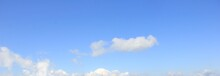 爽やかな青空と白い雲...
