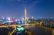 Aerial photography China Guangzhou modern city architecture landscape skyline