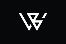 WB Logo Letter Design On Luxury Background. BW Logo Monogram Initials Letter Concept. WB Icon Logo Design. BW Elegant And Professional Letter Icon Design On Black Background. W B BW WB
