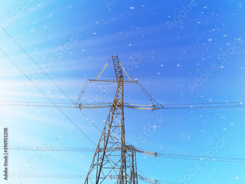 Papel de parede Electric transmission line