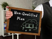 Non-Qualified Plan Phrase On The Blackboard