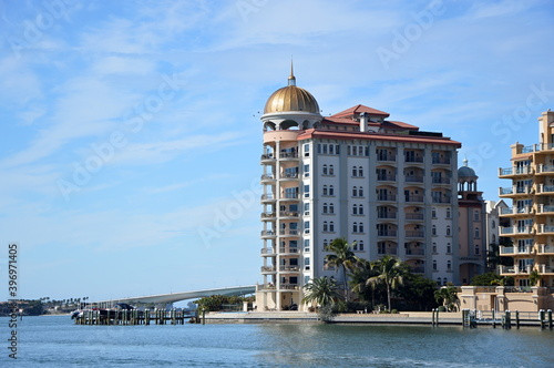 Tablou Canvas Panorama der Downtown Sarasota am Golf von Mexico, Florida