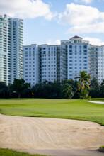 Sand Pit At A Golf Course Landscape
