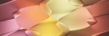 Abstract Colorful Gradient Wave Shape Background Illustration. 3d Rendering Backround Illustration