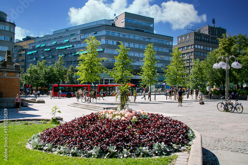 Fototapeta Street in Oslo centrum - Norway