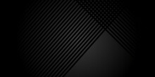 Black Abstract Background With Metal Texture And Lines. Vector Illustration Design For Business Presentation, Banner, Cover, Web, Flyer, Card, Poster, Game, Texture, Slide, Magazine, And Powerpoint.