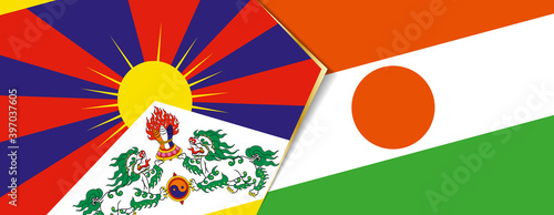 Canvastavla Tibet and Niger flags, two vector flags.