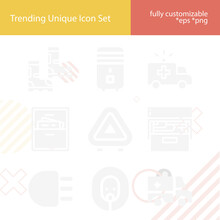 Simple Set Of Compartment Related Filled Icons.