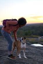 Portrait Of Black Female Hiker