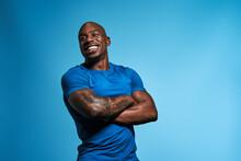 Black Man Joy And Happiness Studio Portrait
