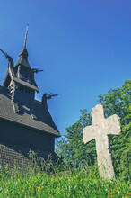 Ancient Wooden Church In Berge...
