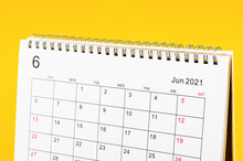 June 2021 Calendar Desk For Organizer To Plan And Reminder.