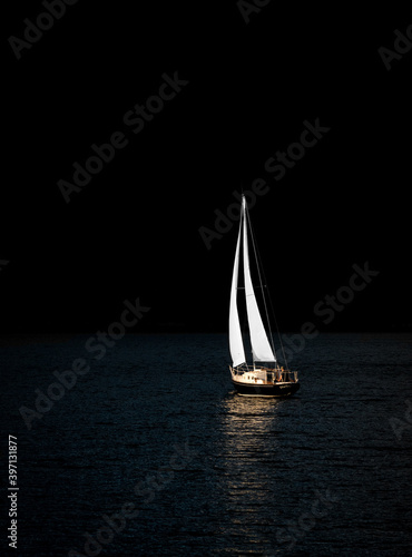 Canvas Print sailboat on the lake