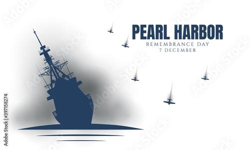 Obraz na plátně Pearl Harbor Remembrance Day Background.
